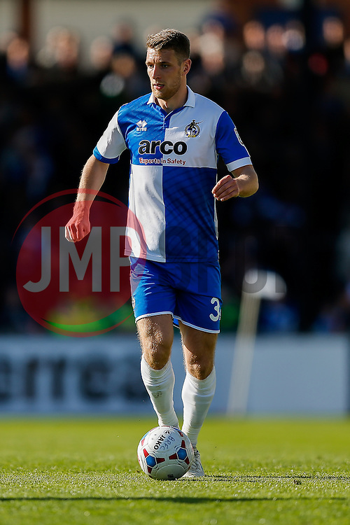 Lee Brown of Bristol Rovers in action - Photo mandatory by-line: Rogan Thomson/JMP - 07966 386802 - 11/04/2015 - SPORT - FOOTBALL - Bristol, England - Memorial Stadium - Bristol Rovers v Southport - Vanarama Conference Premier.
