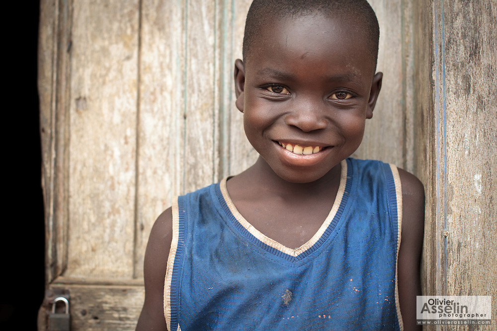 Portrait of a boy in the village of Kawejah, Grand Cape Mount county, Liberia on Friday April 6, 2012.