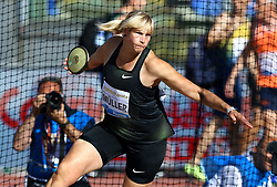 May 31, 2018 - Rome, Italy - Nadine Muller (GER) competes in discus throw women during Golden Gala Iaaf Diamond League Rome 2018 at Olimpico Stadium in Rome, Italy on May 31, 2018. (Credit Image: © Matteo Ciambelli/NurPhoto via ZUMA Press)