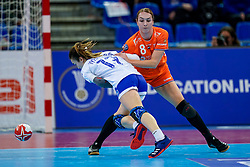 13-12-2019 JAP: Semi Final Netherlands - Russia, Kumamoto<br /> The Netherlands beat Russia in the semifinals 33-22 and qualify for the final on Sunday in Park Dome at 24th IHF Women's Handball World Championship / Lois Abbingh #8 of Netherlands, Anna Vyakhireva #13 of Russia