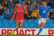 Swindon Town forward Keshi Anderson during the EFL Sky Bet League 2 match between Chesterfield and Swindon Town at the Proact stadium, Chesterfield, England on 24 February 2018. Picture by Aaron  Lupton.