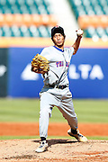 NEW TAIPEI CITY, TAIWAN - NOVEMBER 16:  Nattapong Meeboonrod #17 of Team Thailand pitches during Game 3 of the 2013 World Baseball Classic Qualifier against Team New Zealand at Xinzhuang Stadium in New Taipei City, Taiwan on Friday, November 1, 2012.  Photo by Yuki Taguchi/WBCI/MLB Photos