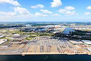 Nederland, Noord-Holland, Amsterdam, 14-06-2012; Westpoort, Westhaven met Koopman Car Terminal (autoterminal)..Westpoort, Western port with Koopman Car Terminal. .luchtfoto (toeslag), aerial photo (additional fee required);.copyright foto/photo Siebe Swart