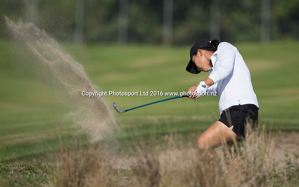 New Zealand's Lydia Ko in action in the first round of the womens golf.  Rio Olympics Games 2016, Rio de Janeiro. Wednesday 17 August, 2016. Copyright photo: John Cowpland / www.photosport.nz