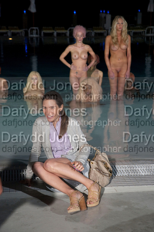"JULIETTE LONGUET; MODELS PERFORMING VANESSA BEECHCROFT INSTALLATION, Neville Wakefield and Playboy host ÒNude as MuseÓ evening art salon. Standard Hotel.  Miami. 4 December 2010. -DO NOT ARCHIVE-© Copyright Photograph by Dafydd Jones. 248 Clapham Rd. London SW9 0PZ. Tel 0207 820 0771. www.dafjones.com.<br /> JULIETTE LONGUET; MODELS PERFORMING VANESSA BEECHCROFT INSTALLATION, Neville Wakefield and Playboy host ""Nude as Muse"" evening art salon. Standard Hotel.  Miami. 4 December 2010. -DO NOT ARCHIVE-© Copyright Photograph by Dafydd Jones. 248 Clapham Rd. London SW9 0PZ. Tel 0207 820 0771. www.dafjones.com."