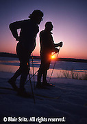 PA landscapes, Cross Country Skiers, Susquehanna River, Harrisburg, PA