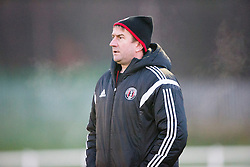 Gala Fairydean Rovers ass manager Brian Templeton.<br /> Edinburgh University 2 v 3 Gala Fairydean Rovers, Scottish Sun Lowland League game played 15/11/2014 at Peffermill Playing Fields.