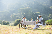 Luxury Safari breakfast. Photographed in Kwazulu Natal South Africa