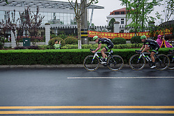 Riejanne Markus and Julia Soek pick up the pace (Liv Plantur) - Tour of Chongming Island 2016 - Stage 3. A 99 km road race on Chongming Island, China on May 8th 2016.