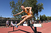 Apr 18, 2019; Azusa, CA, USA; Johannes Motschmann of Iona hurdles a barrier in the steeplechase at the Bryan Clay Invitational at Azusa Pacific University. Motschmann won in a stadium record 8:44.34.