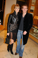 MR JACOBI ANSTRUTHER-GOUGH-CALTHORPE and LADY EMILY COMPTON at a party hosted by Burberry to launch their special collection in aid of Breakthrough Breast Cancer, held at 21-23 New Bond Street, London W1 on 5th October 2004.<br /><br />NON EXCLUSIVE - WORLD RIGHTS