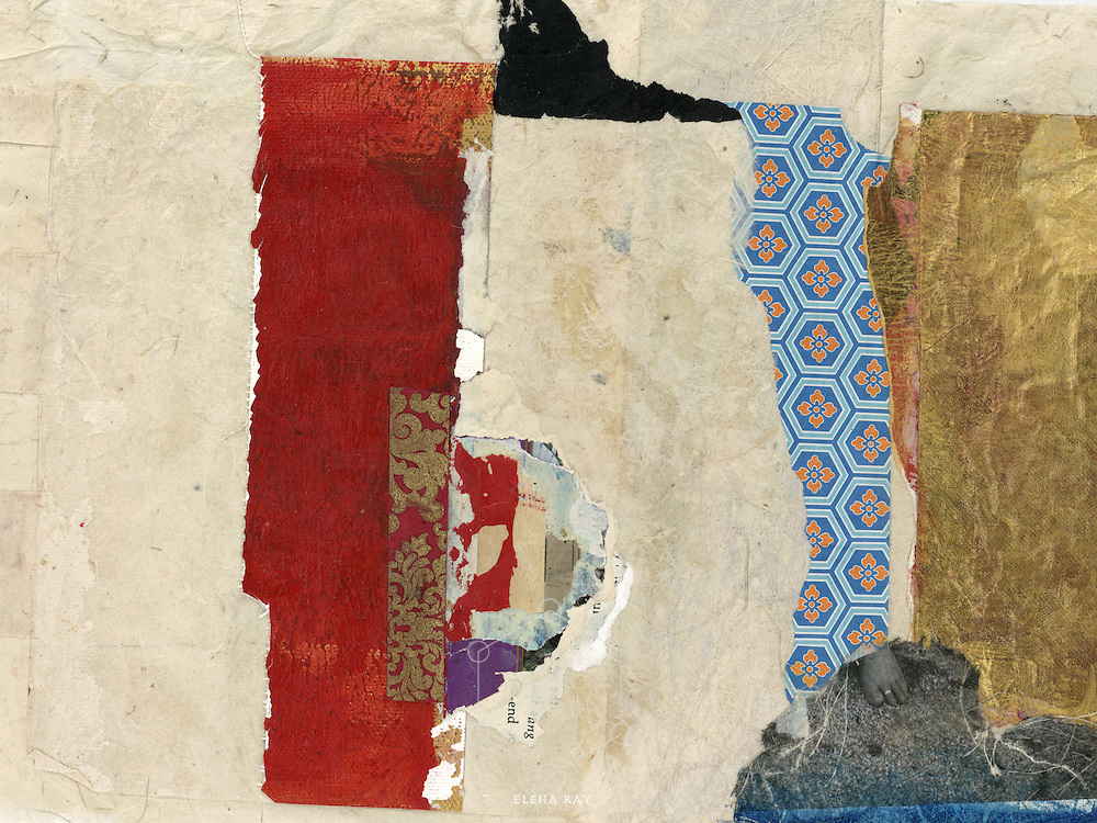 Abstract collage with asian elements.