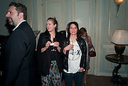 KEITH TYSON; POLLY MORGAN; SUE WEBSTER, Dinner to mark 50 years with Vogue for David Bailey, hosted by Alexandra Shulman. Claridge's. London. 11 May 2010