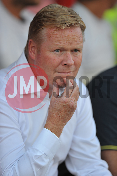 Southampton Manager, Ronald Koeman  - Photo mandatory by-line: Alex James/JMP - Tel: Mobile: 07966 386802 15/07/2014 - SPORT - FOOTBALL - County Ground- Swindon  -  Swindon Town V Southampton  - preseason