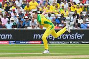 Jason Behrendorff of Australia bowling during the ICC Cricket World Cup 2019 semi final match between Australia and England at Edgbaston, Birmingham, United Kingdom on 11 July 2019.