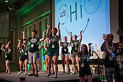"Bobcat Student Orientation leaders perform a choreographed routine to ""Uptown Funk"" on Thursday, June 4, 2015.  Photo by Ohio University  /  Rob Hardin"