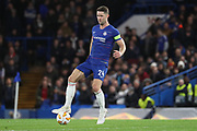 Gary Cahill of Chelsea (24) dribbling during the Champions League group stage match between Chelsea and PAOK Salonica at Stamford Bridge, London, England on 29 November 2018.