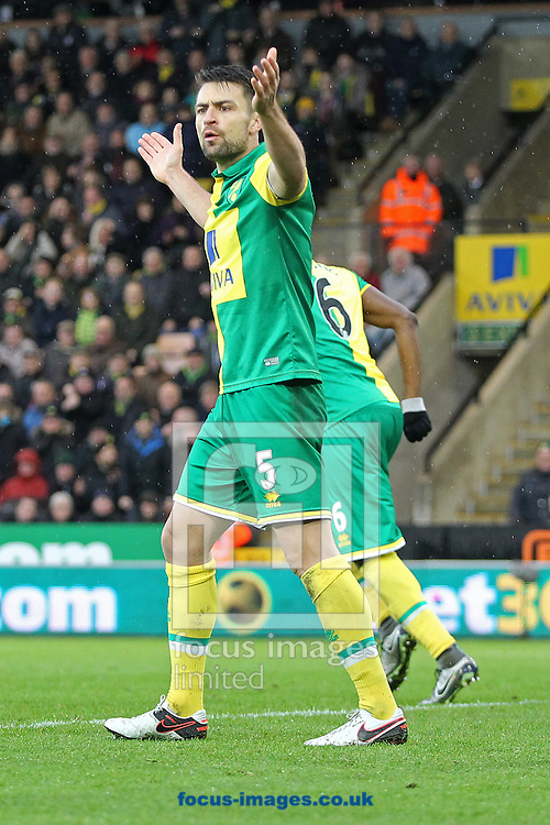 Russell Martin of Norwich during the Barclays Premier League match at Carrow Road, Norwich<br /> Picture by Paul Chesterton/Focus Images Ltd +44 7904 640267<br /> 12/12/2015