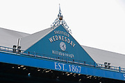 Sheffield Wednesday clock face at the Hillsborough Stadium before the EFL Sky Bet Championship match between Sheffield Wednesday and Bristol City at Hillsborough, Sheffield, England on 22 April 2019.