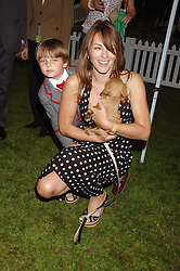 LIZ HURLEY and her son DAMIAN at Macmillan Dog Day in aid of Macmillan Cancer Support, held at Royal Hospital Chelsea, London on 3rd July 2007.<br /><br />NON EXCLUSIVE - WORLD RIGHTS