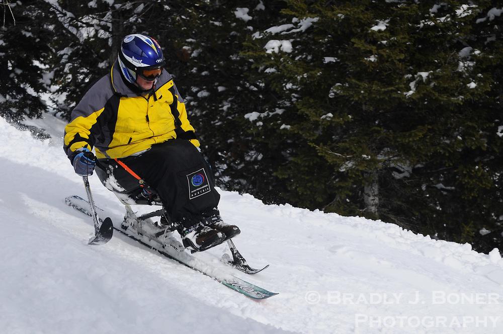 Adaptive skiing steep and deep camp at JHMR