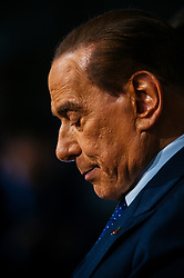 Silvio Berlusconi after a meeting with Italian President Sergio Mattarella during the consultations of political parties at the Quirinale palace in Rome on 5 April 2018. Christian Mantuano / OneShot