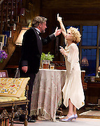 Hay Fever<br /> by Noel Coward<br /> at The Duke of York's Theatre, London, Great Britain <br /> press photocall <br /> 6th May 2015 <br /> <br /> Felicity Kendall as Judith Bliss<br /> <br /> Simon Shepherd as David Bliss <br /> <br /> <br /> Photograph by Elliott Franks <br /> Image licensed to Elliott Franks Photography Services