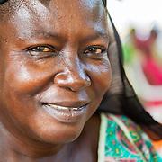 LÉGENDE: Portrait de Madame Assoumba Bayem, directrice du centre social jadrin d'enfants. LIEU: Centre Social Jardin d'enfants, Sarh, Tchad. PERSONNE(S): Assoumba Bayem, Directrice du centre social Jardin d'enfants.