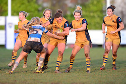 Sarah Bern of Bristol Ladies powers forward - Mandatory by-line: Dougie Allward/JMP - 11/12/2016 - RUGBY - Cleve RFC - Bristol, England - Bristol Ladies v Darlington Mowden Park Ladies - RFU Women's Premiership
