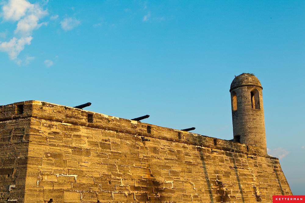 Castillo de San Marcos in Saint Augusinte, Florida.
