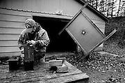 Préparation d'une compétition de tir à la carabine au River Bend gun club. Dawsonville, USA.