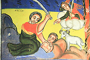 Ethiopia Lake Tana Zege Peninsula, Murals, in the Christian Church of Ura Kedane Meheriet