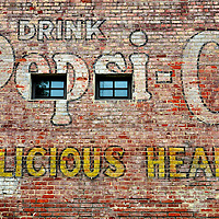 Drink Pepsi Cola for Delicious Health Wall Advertisement in Durham, North Carolina<br />