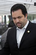 29 April 2010 New York, NY-  Ben Jealous, President, NAACP at The March on Wall Street held at City Hall Park with proceeding March on Wall Street Protest on April 29, 2010 in New York City.