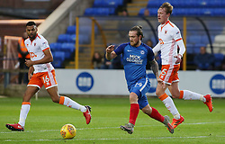 Jack Marriott of Peterborough United takes on Curtis Tilt and Sean Longstaff of Blackpool - Mandatory by-line: Joe Dent/JMP - 18/11/2017 - FOOTBALL - ABAX Stadium - Peterborough, England - Peterborough United v Blackpool - Sky Bet League One
