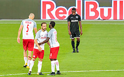 19.07.2017, Red Bull Arena, Salzburg, AUT, UEFA CL, FC Salzburg vs Hibernians FC, Qualifikation, 2. Runde, Rückspiel, im Bild Duje Caleta-Car (FC Red Bull Salzburg), Andreas Ulmer (FC Red Bull Salzburg), Diadie Samassekou (FC Red Bull Salzburg), Joseph Mbong (Hibernians) // during the UEFA Championsleague Qualifier 2nd round, 2nd leg match between FC Salzburg and Hibernians FC at the Red Bull Arena in Salzburg, Austria on 2017/07/19. EXPA Pictures © 2017, PhotoCredit: EXPA/ JFK