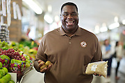 Celebrity Shopper Bubba Baker portrait for the West Side Market feature package for Cleveland Magazine shot on Wednesday, Oct. 3, 2012.