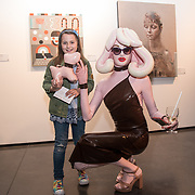 Pandemonia attend the Art On The Mind - Private view of an exhibition and auction which benefits homeless charity, Cardboard Citizens.