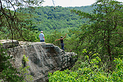Airplane Rock in Hocking Hills State Forest, in Hocking County near Logan, Ohio, USA.