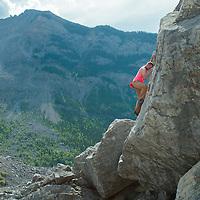 Bouldering in Frank Slide Alberta