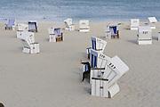 Sylt, Germany. Hörnum. Beach baskets.