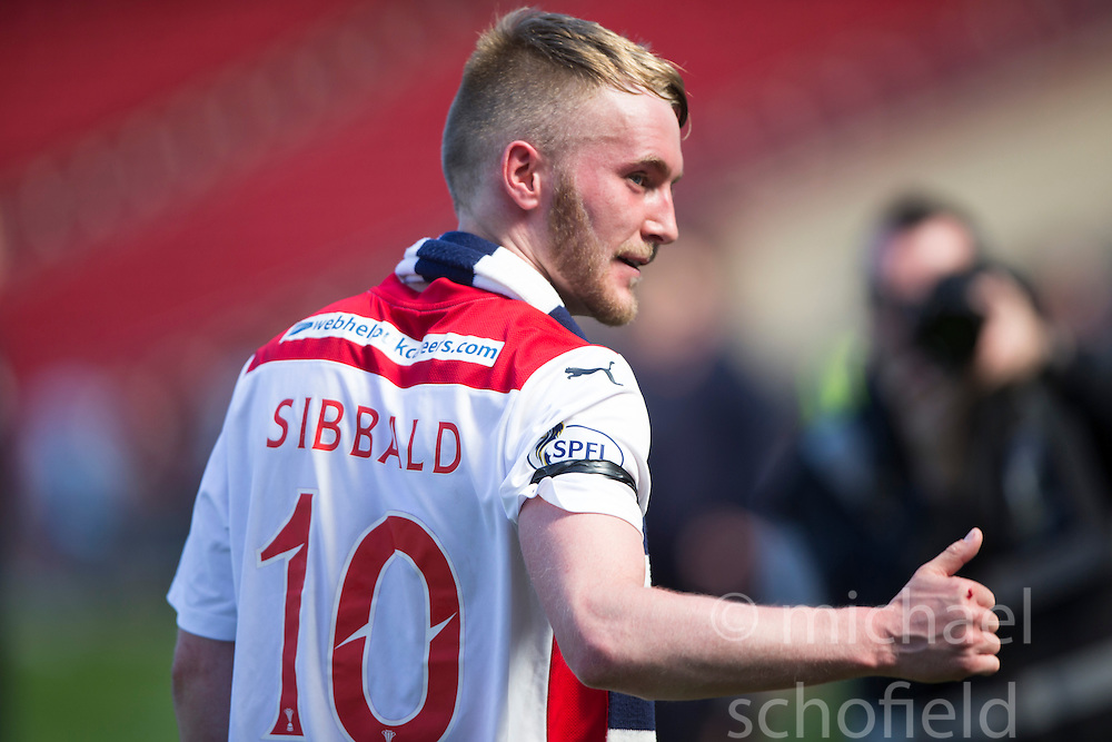 Falkirk's Craig Sibbald cele at the end.<br /> Hibernian 0 v 1 Falkirk, William Hill Scottish Cup semi-final, played 18/4/2015 at Hamden Park, Glasgow.