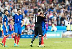 10.06.2016, Stade de France, St. Denis, FRA, UEFA Euro, Frankreich, Frankreich vs Rumaenien, Gruppe A, im Bild Laurent Koscielny (FRA), Adil Rami (FRA), Hugo Lloris (FRA), Patrice Evra (FRA) // Laurent Koscielny (FRA), Adil Rami (FRA), Hugo Lloris (FRA), Patrice Evra (FRA) during Group A match between France and Romania of the UEFA EURO 2016 France at the Stade de France in St. Denis, France on 2016/06/10. EXPA Pictures © 2016, PhotoCredit: EXPA/ JFK