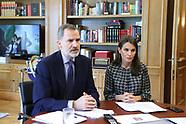 052620 Spanish Royals working at Zarzuela Palace
