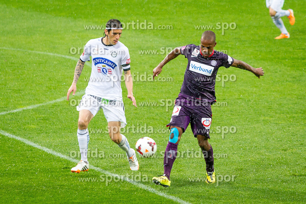 11.05.2014, Generali Arena, Wien, AUT, 1. FBL, FK Austria Wien vs SK Sturm Graz, 36. Runde, im Bild Nikola Vujadinovic , (SK Sturm Graz, #13), Ola Kamara, (FK Austria Wien, #92)// during Austrian Bundesliga Football Match, 36th Round, between FK Austria Wien and SK Sturm Graz at the Generali Arena, Vienna, Austria on 2014/05/11. EXPA Pictures © 2014, PhotoCredit: EXPA/ Sebastian Pucher