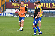 Bury Defender and Summer Signing, Joe Skarz ands Bury Midfielder, Andrew Tutte during the Pre-Season Friendly match between Bury and Sunderland at the JD Stadium, Bury, England on 7 July 2017. Photo by Mark Pollitt.