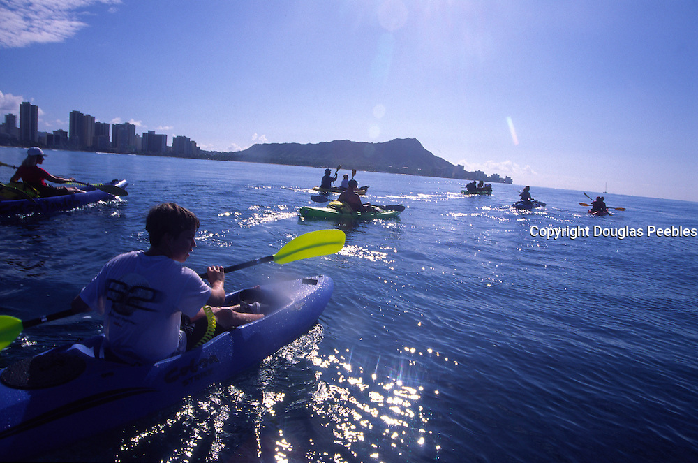 Kayaking, Waikiki, Oahu, Hawaii<br />