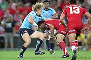 Saia Faingaa is taken by Ryan Cross. Queensland Reds v NSW Waratahs. Investec Super Rugby Round 10 Match, 24 April 2011. Suncorp Stadium, Brisbane, Australia. Reds won 19-15. Photo: Clay Cross / photosport.co.nz
