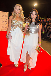 Left to right, model VICTORIA EISERMANN and Polish pop star POLA POSPIESZALSKA at the Battersea Dogs & Cats Home's Collars & Coats Gala Ball held at Battersea Evolution, Battersea Park, London on 12th November 2015.