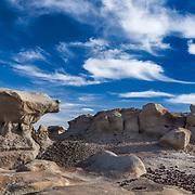 Impossible Rock And Big Sky - Bisti Badlands - New Mexico